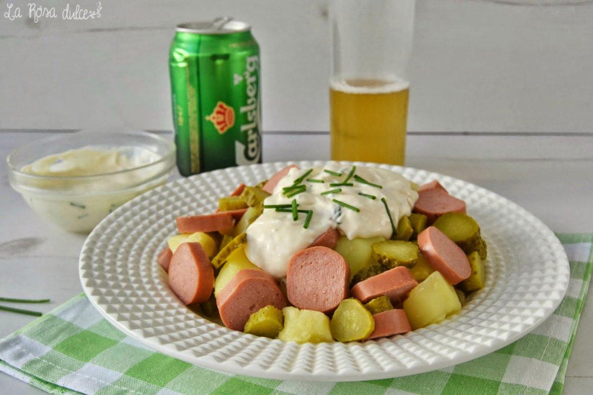 Kartofelsalat o ensalada alemana de patatas