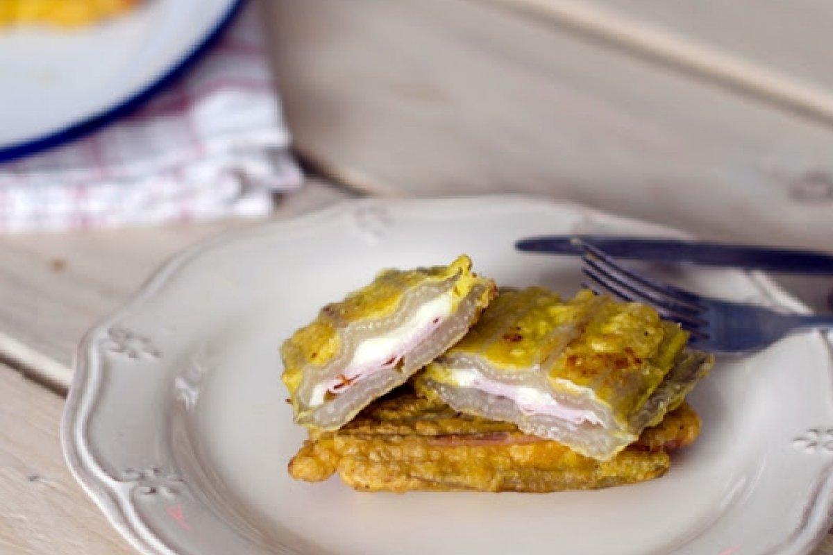 Pencas rellenas de jamón y queso