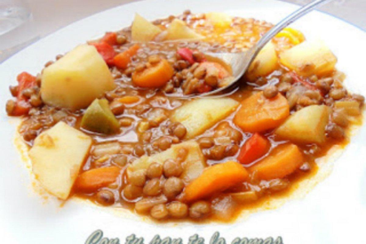 Lentejas con verduras (lentejas viudas)