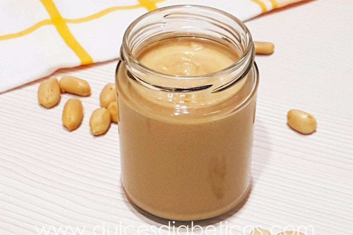 Mantequilla de cacahuete o de maní casera sin azúcar