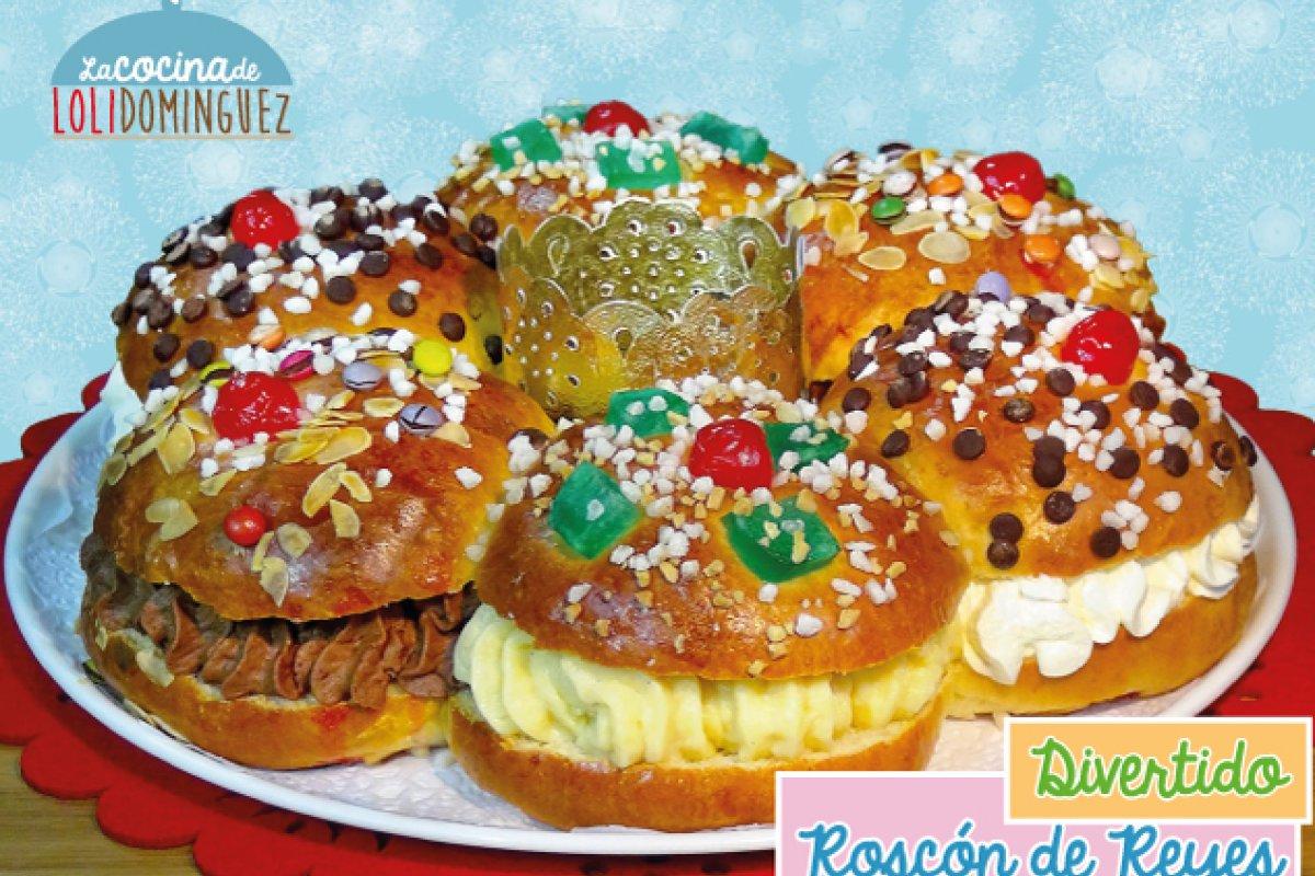 Roscón de Reyes con tres rellenos distintos