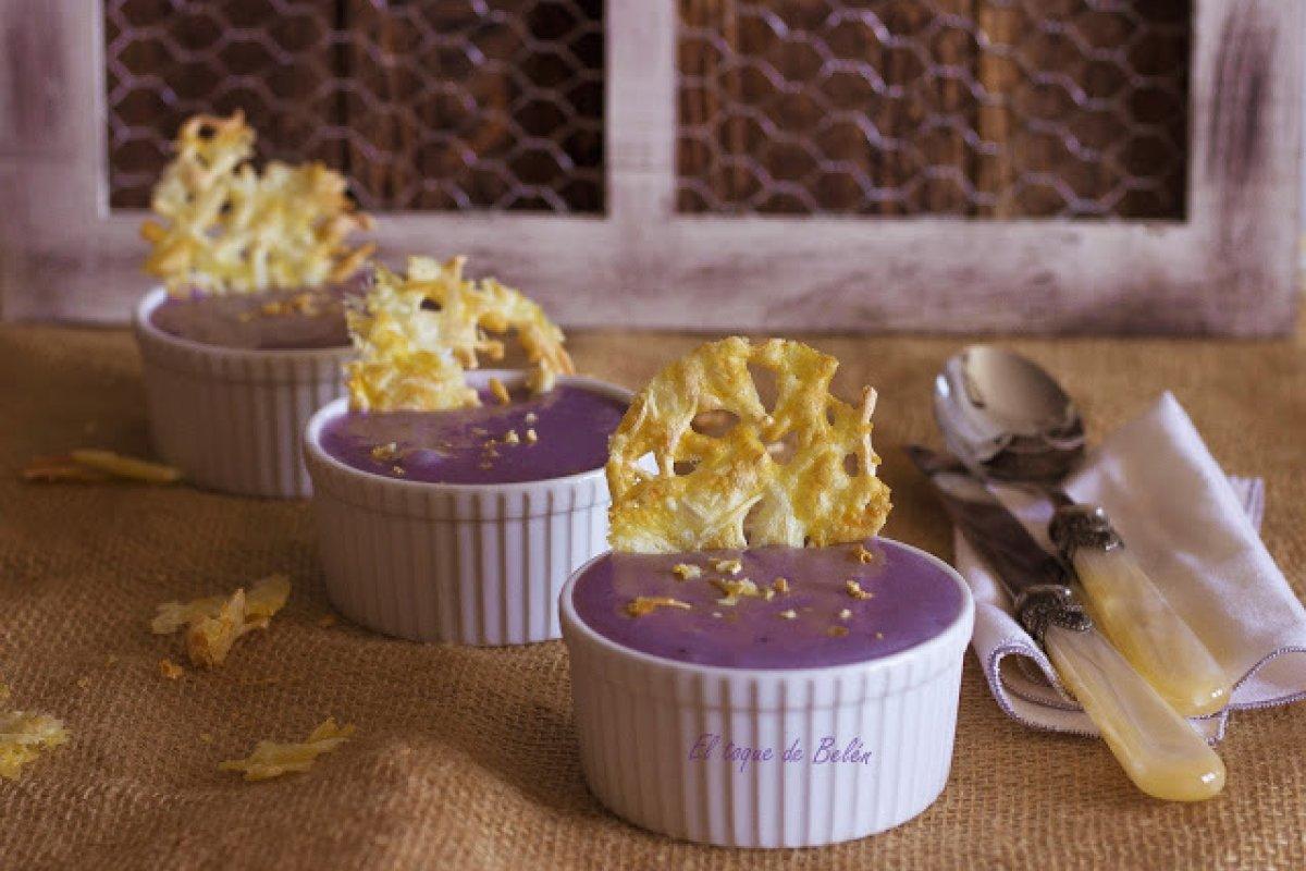 Parmentier o crema de patata morada