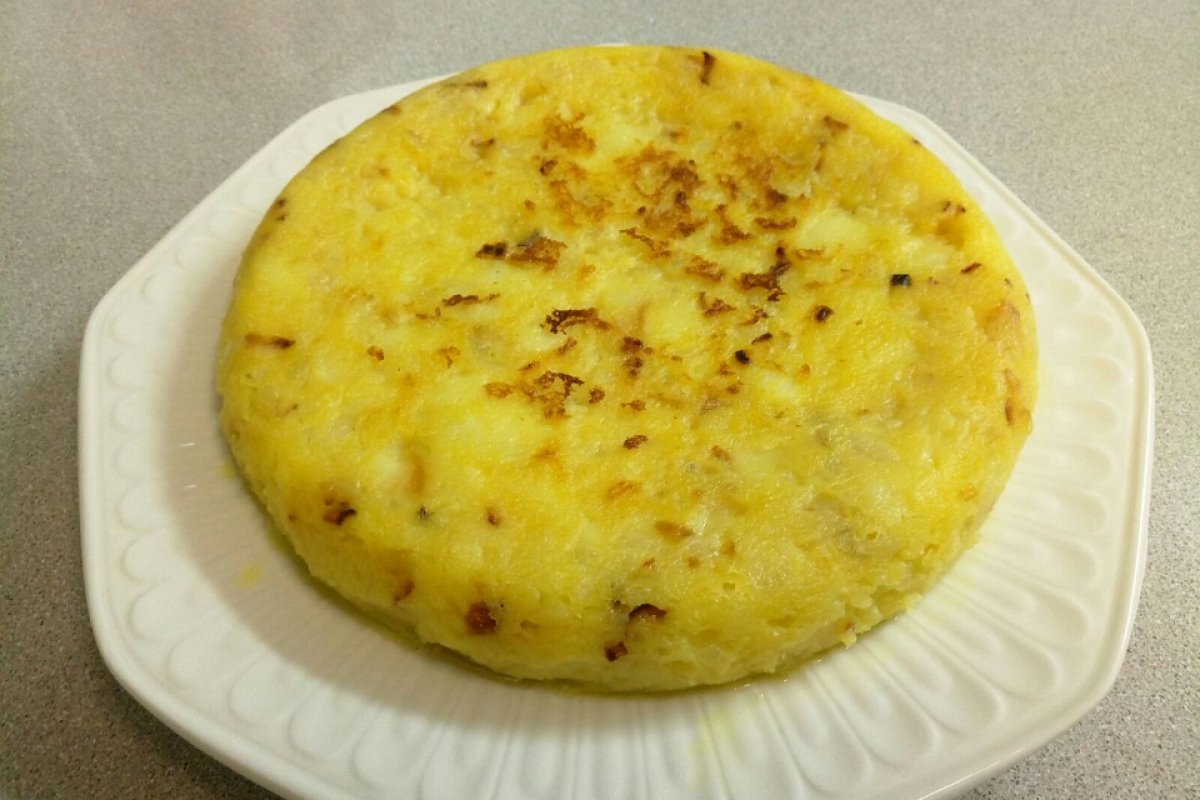 "Tortilla de patata con ""no egg"