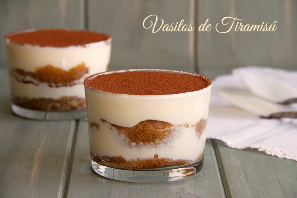 Vasitos de tiramisú