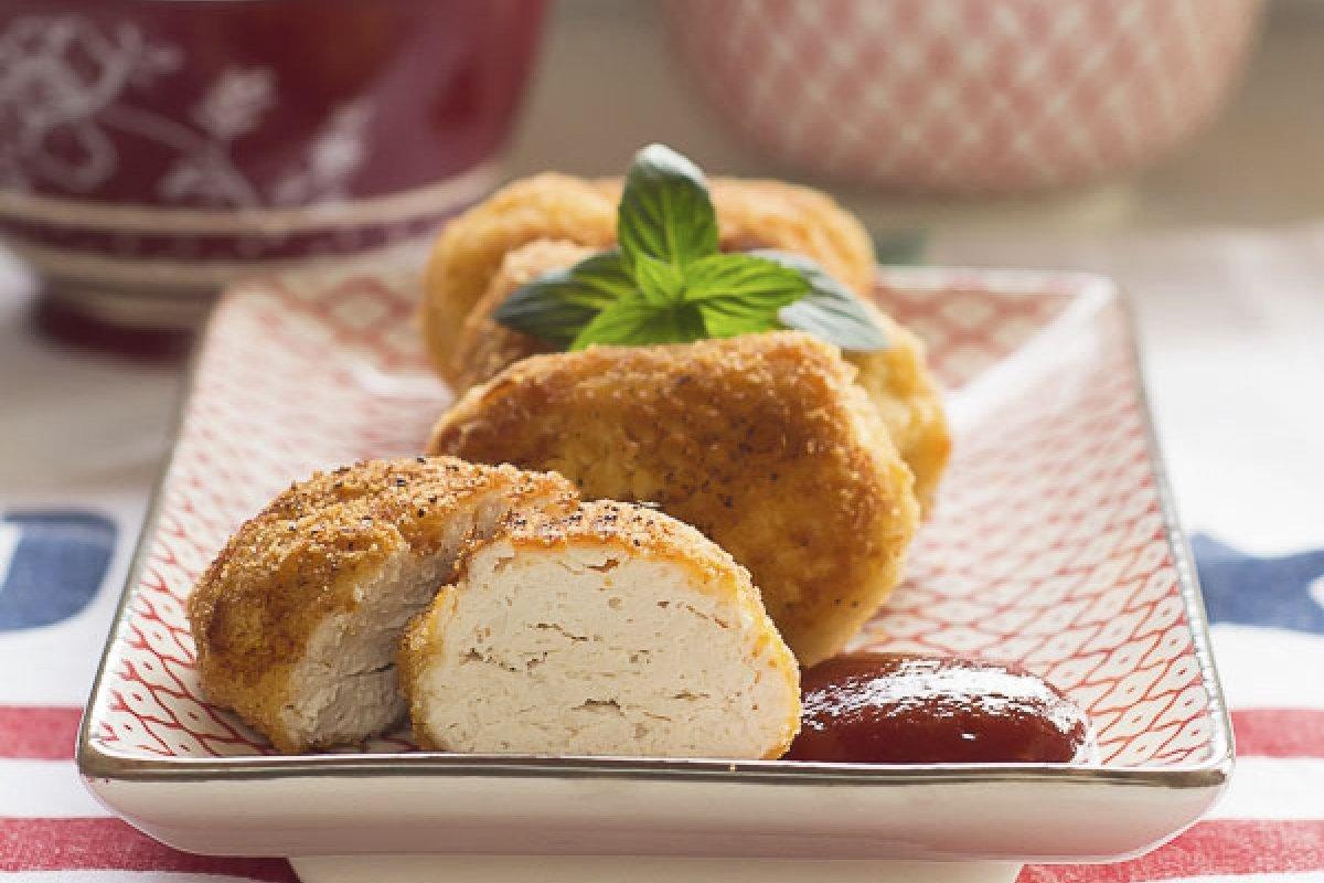Nuggets de pollo caseros sin lactosa