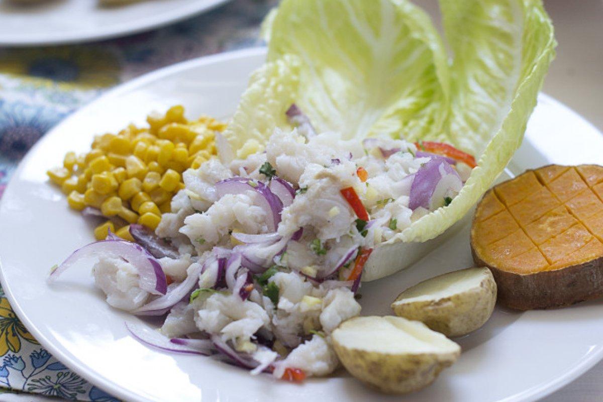 Ceviche de bacalao estilo peruano