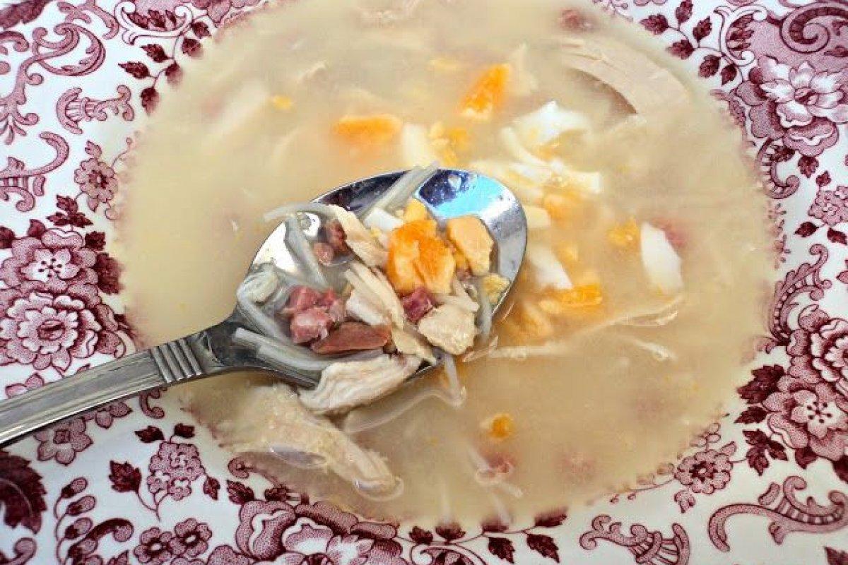 Sopa de picadillo de mi madre