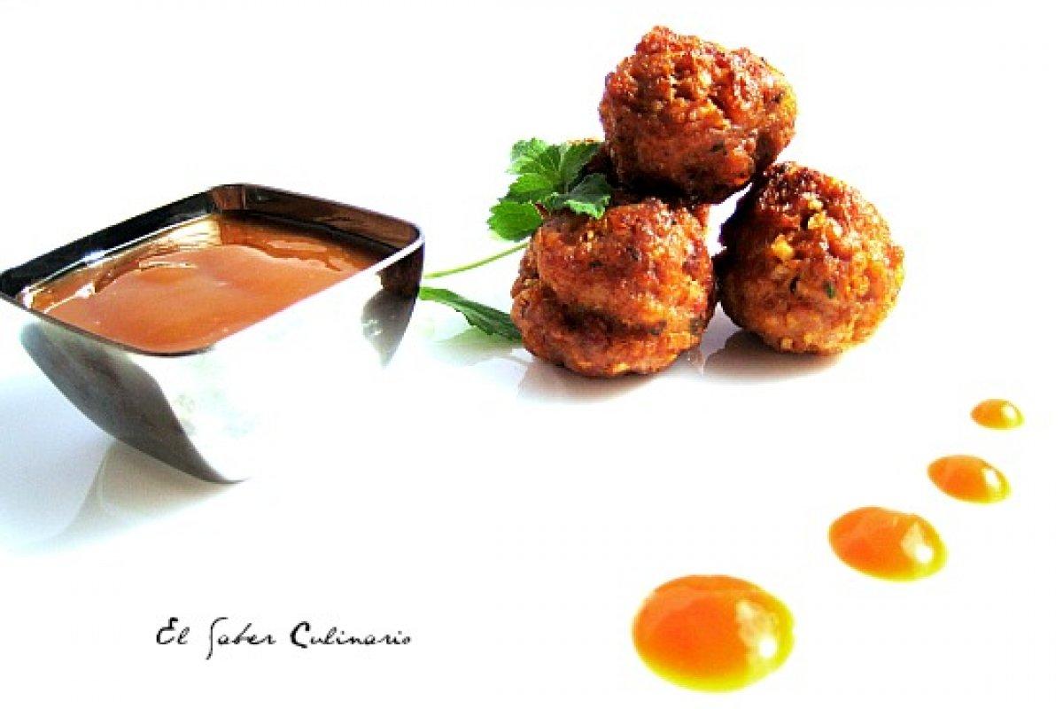 Albóndigas de ternera con salsa sukiyaki