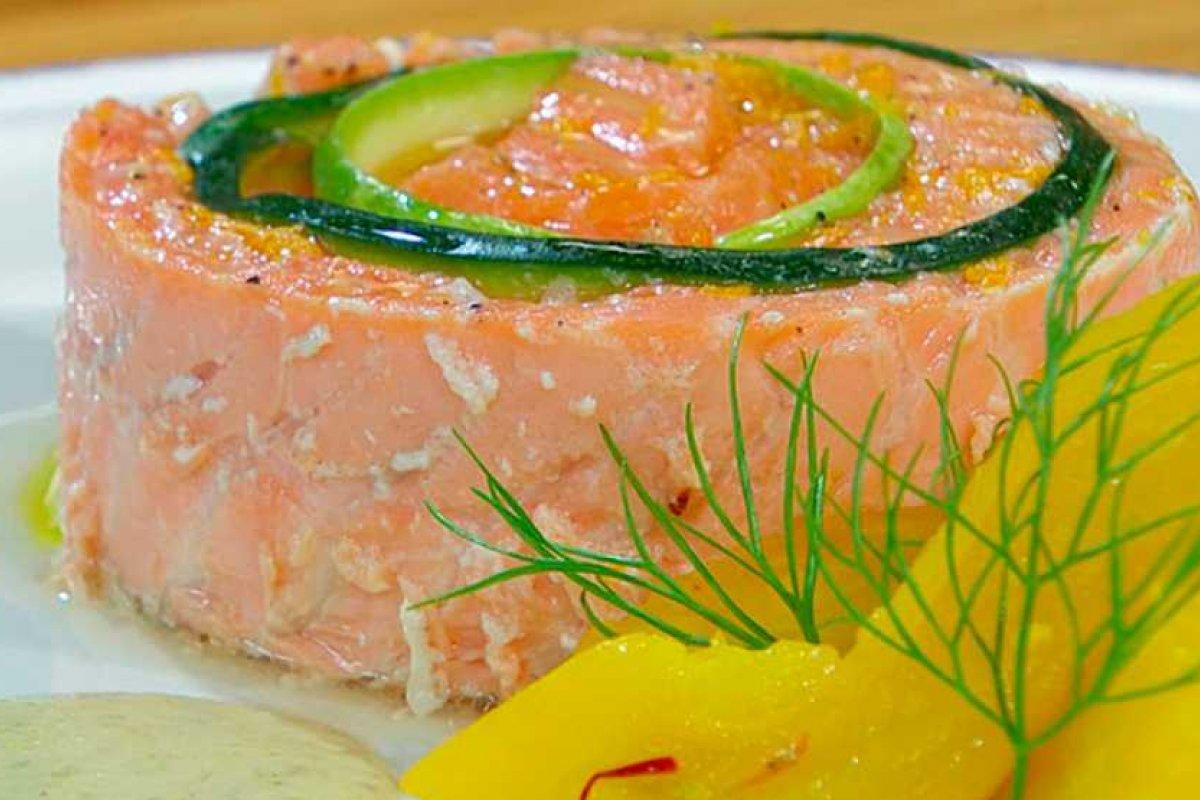 Terrina de salmón con calabacín
