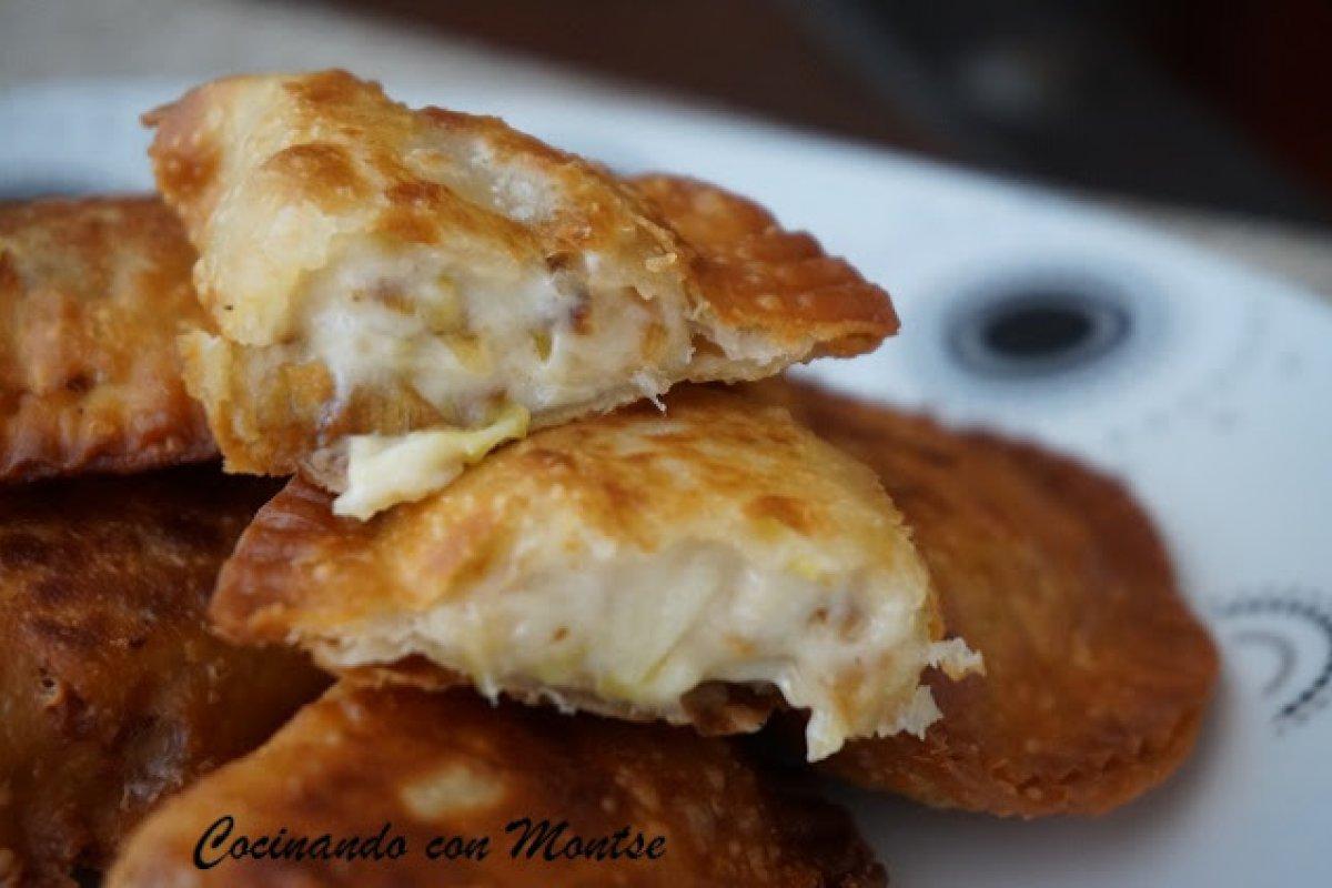 Empanadillas de puerro y queso