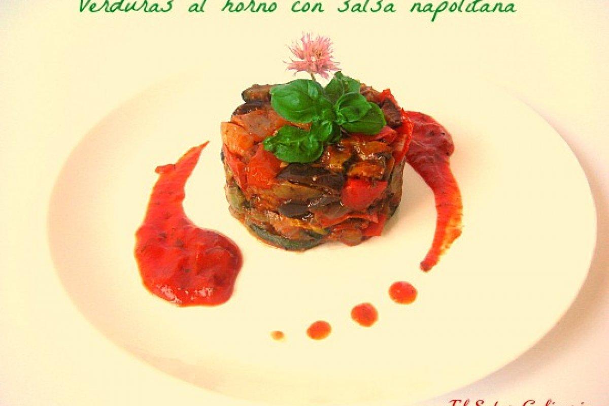 Verduras al horno con salsa napolitana