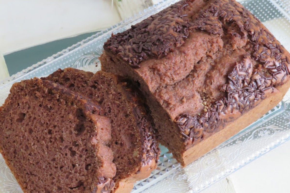 Plum cake de chocolate y arroz (Sin gluten y sin lactosa)