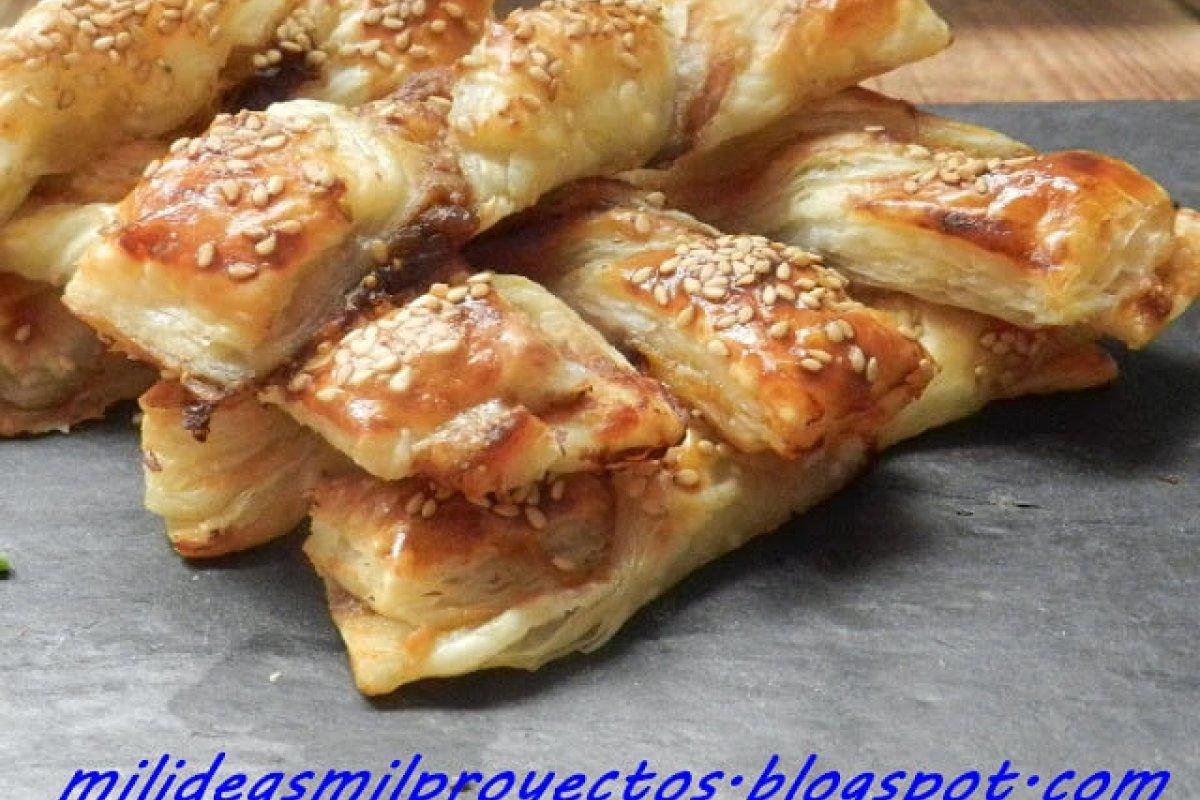 Lacitos de paté de centollo y chutney de higos
