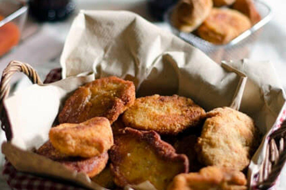Nuggets de pollo con cacahuetes