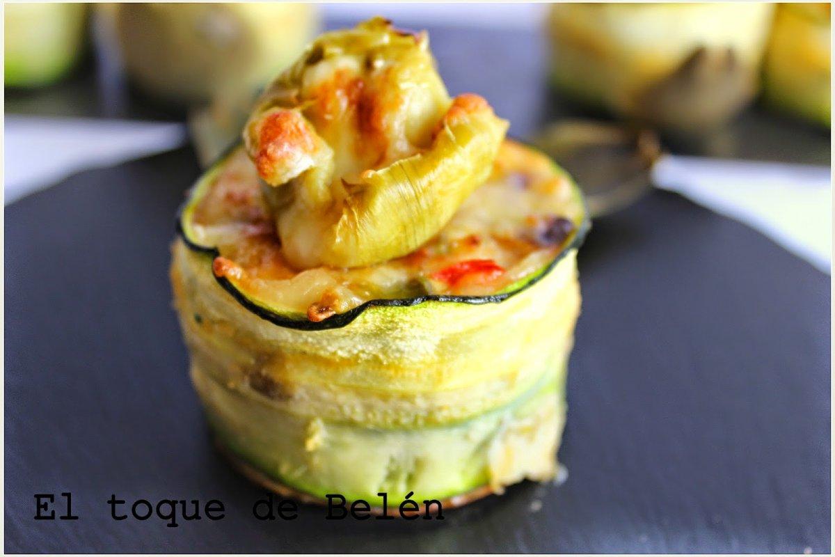 Muffins vegetales con flor de alcachofas