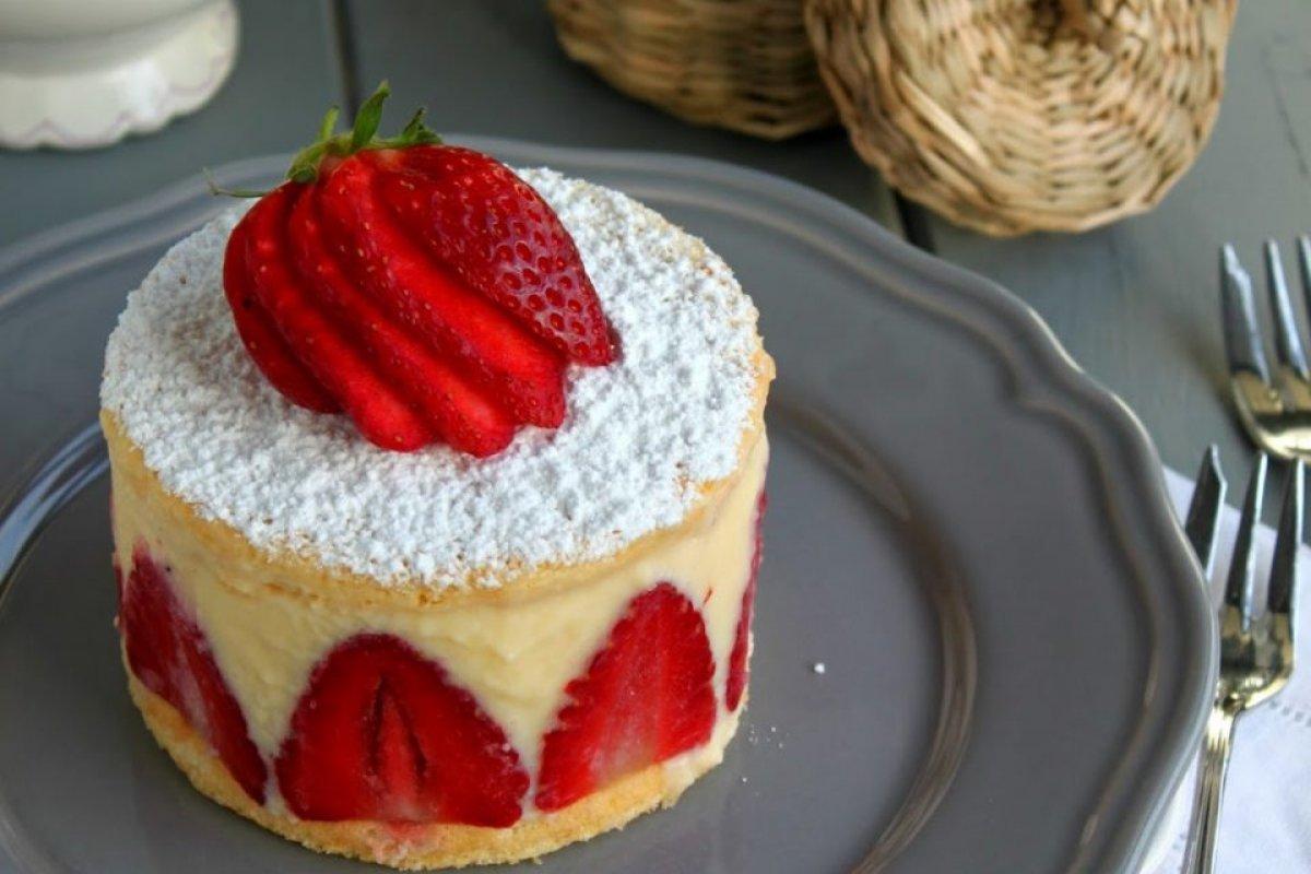 Tarta fraisier.