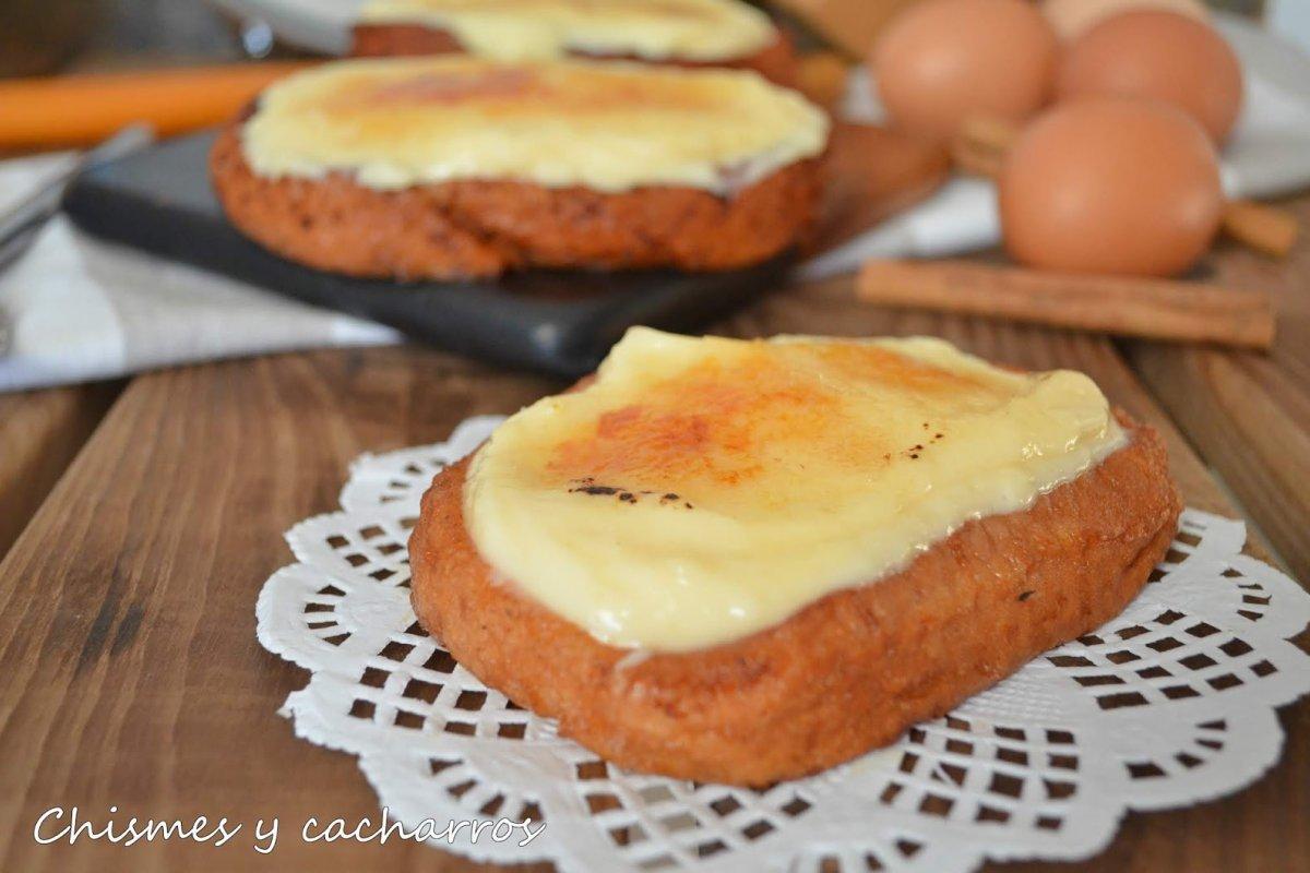 Torrijas con crema pastelera