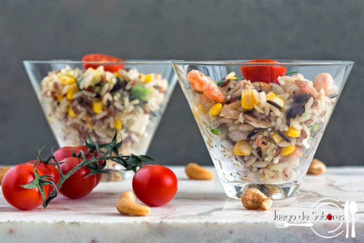 Ensalada de arroz tricolor