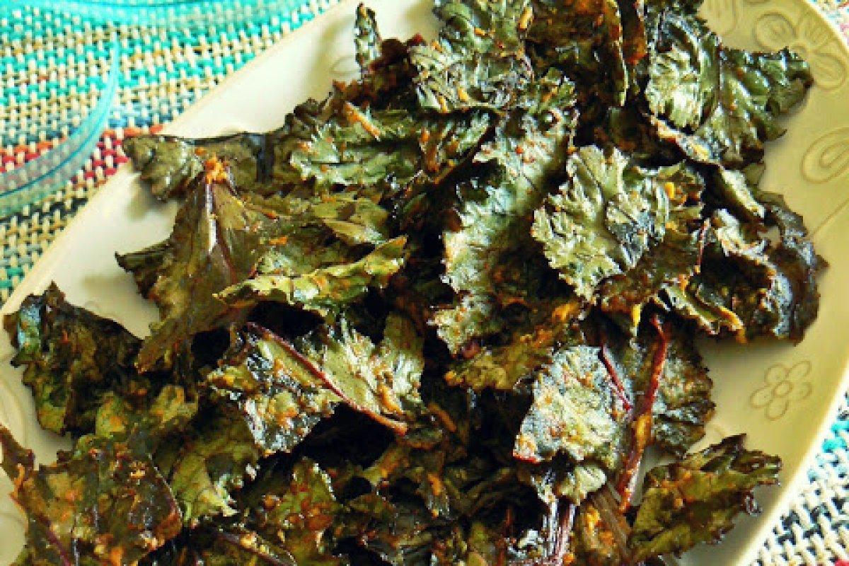Chips crujientes de kale