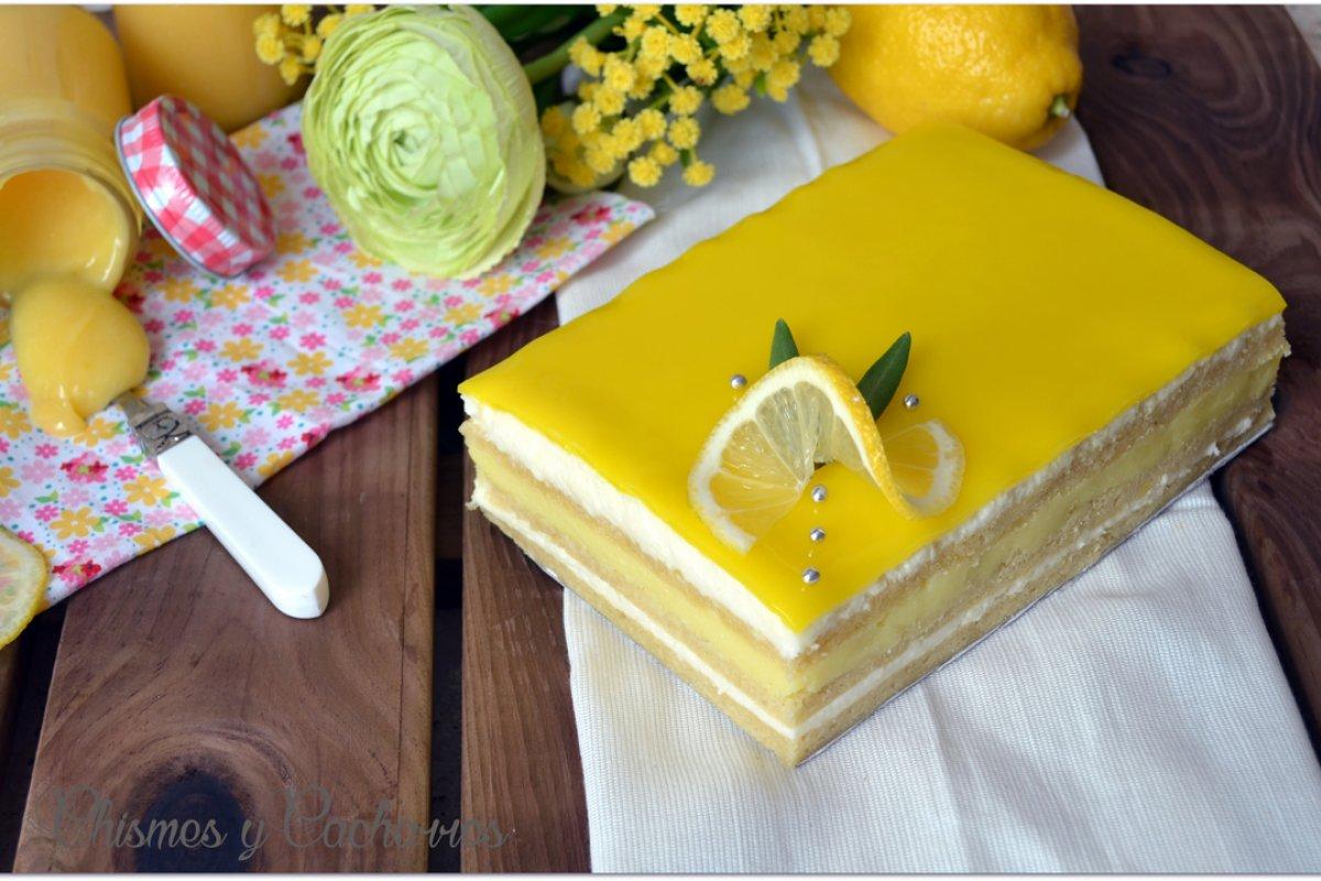Tarta ópera de limón