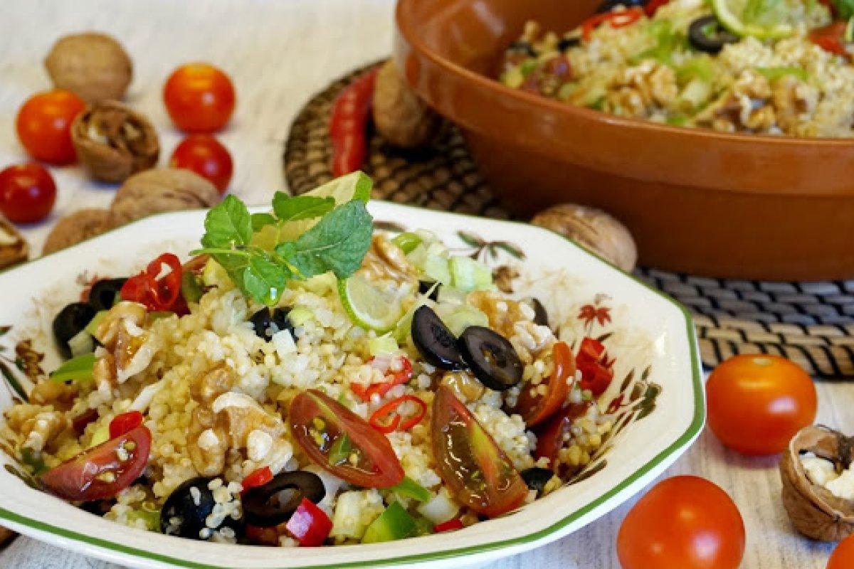 Ensalada de quinoa y bulgur - tabouleh