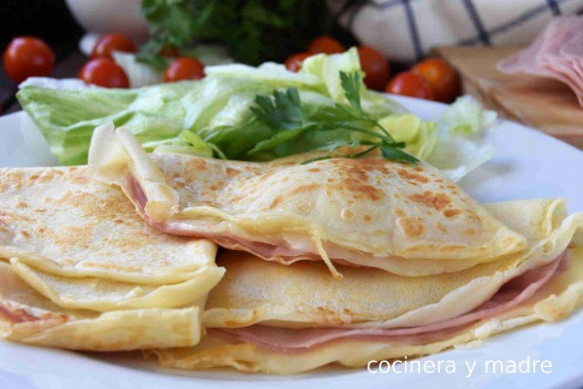 Crepes de jamón y queso muy fáciles
