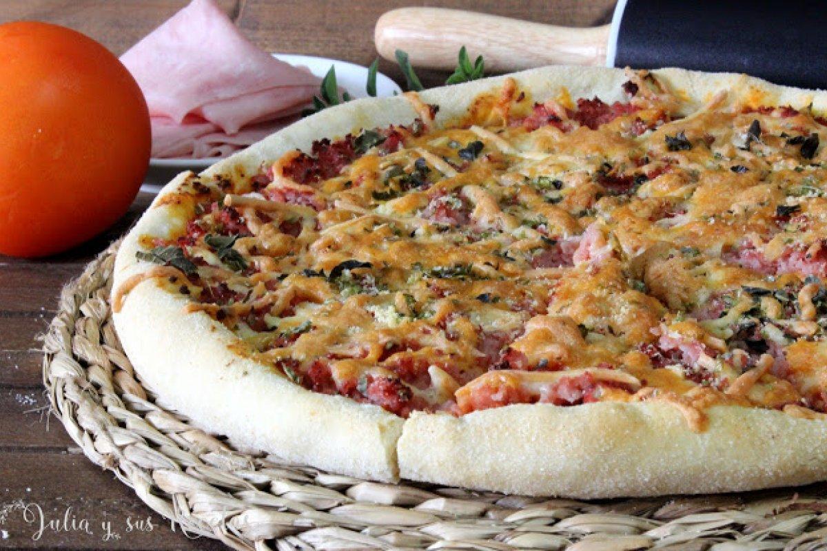 Pizza prosciutto o de jamón cocido
