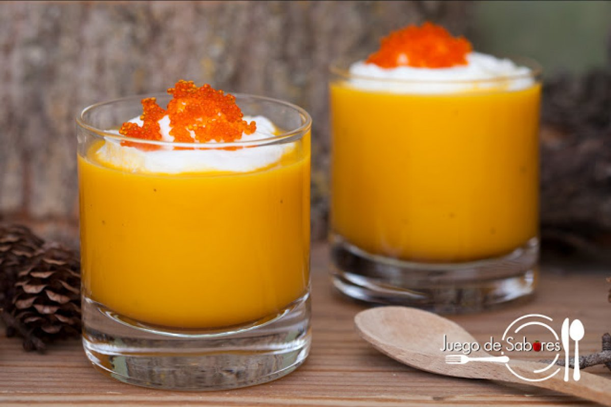 Crema de boniatos y zanahoria a la naranja