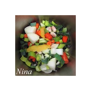 Cocina con luz verde