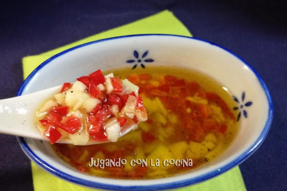 Salsa picante de chiles y miel