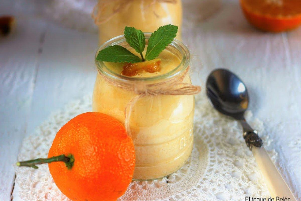 Mousse de mandarinas sin gluten y sin lactosa