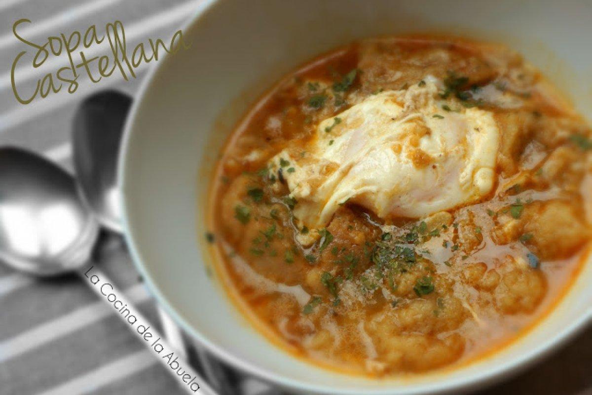 Sopa Castellana o sopas de ajo