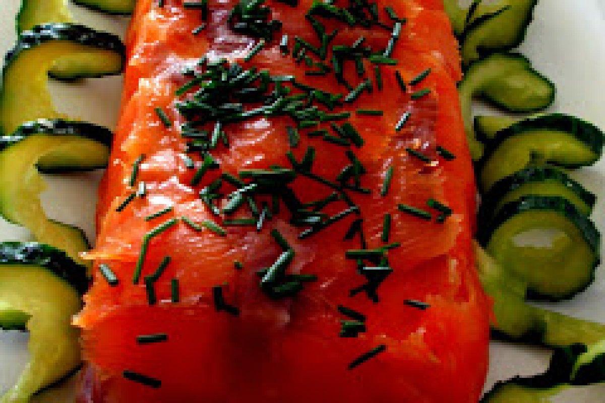 Flan de salmón