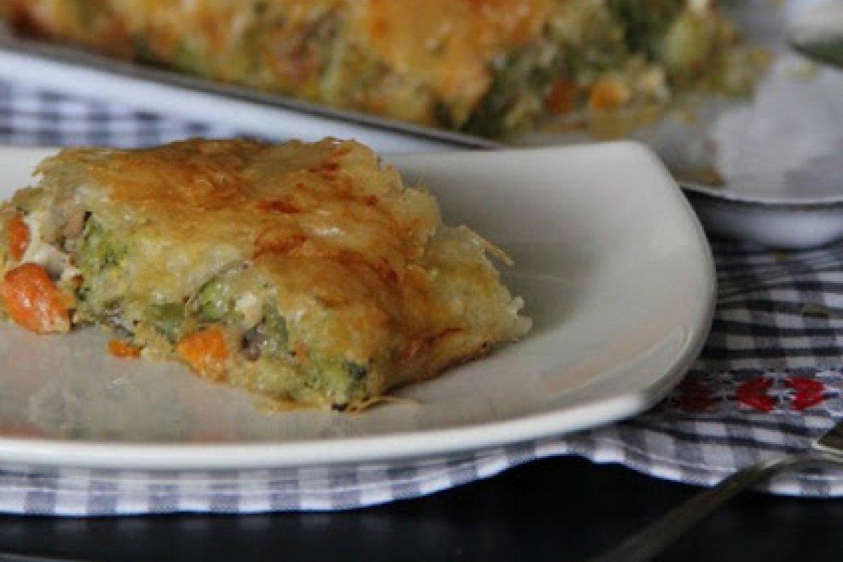 Strudelde verduras con queso de cabra
