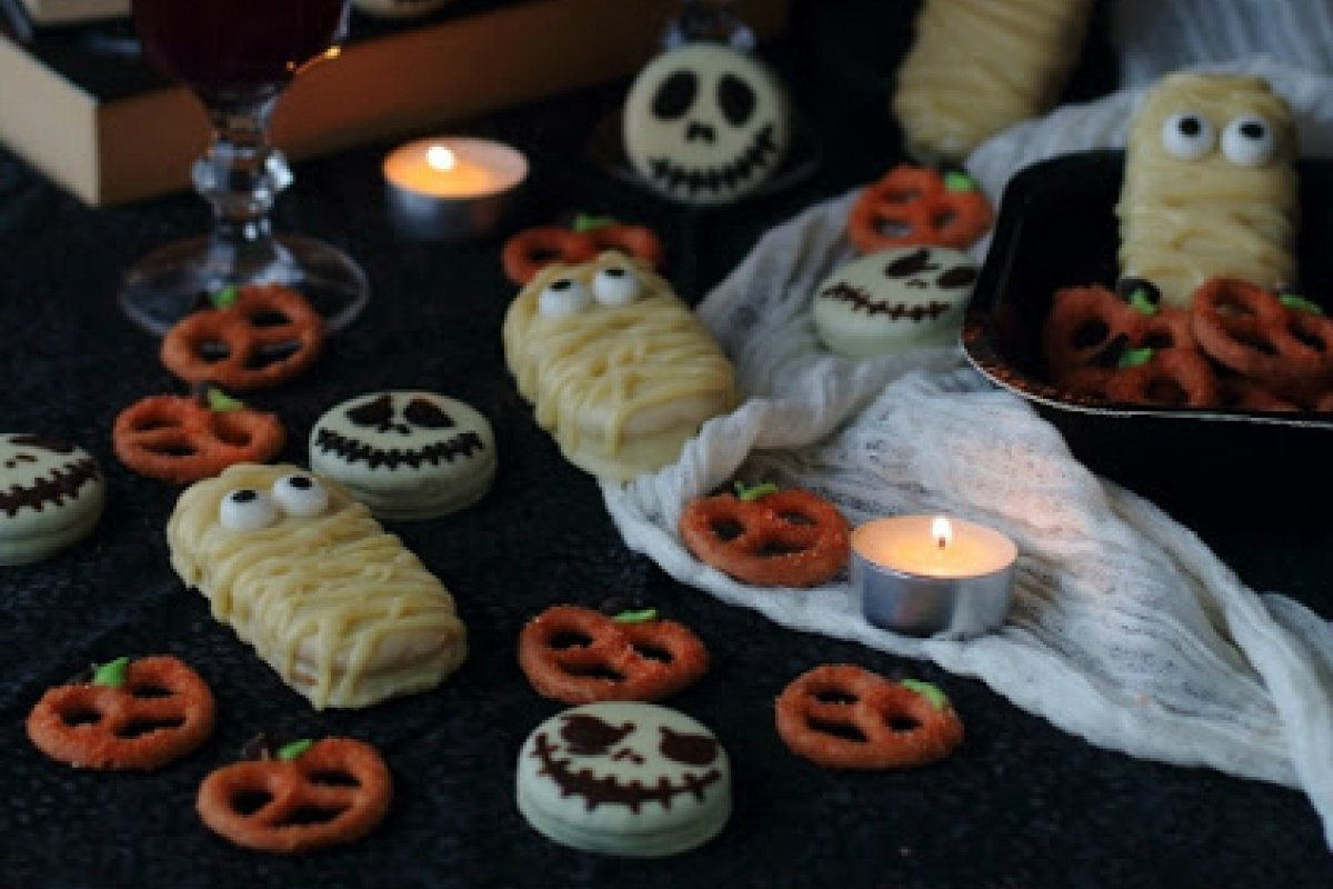 Halloween treats: calabaza, jack skellington y momia