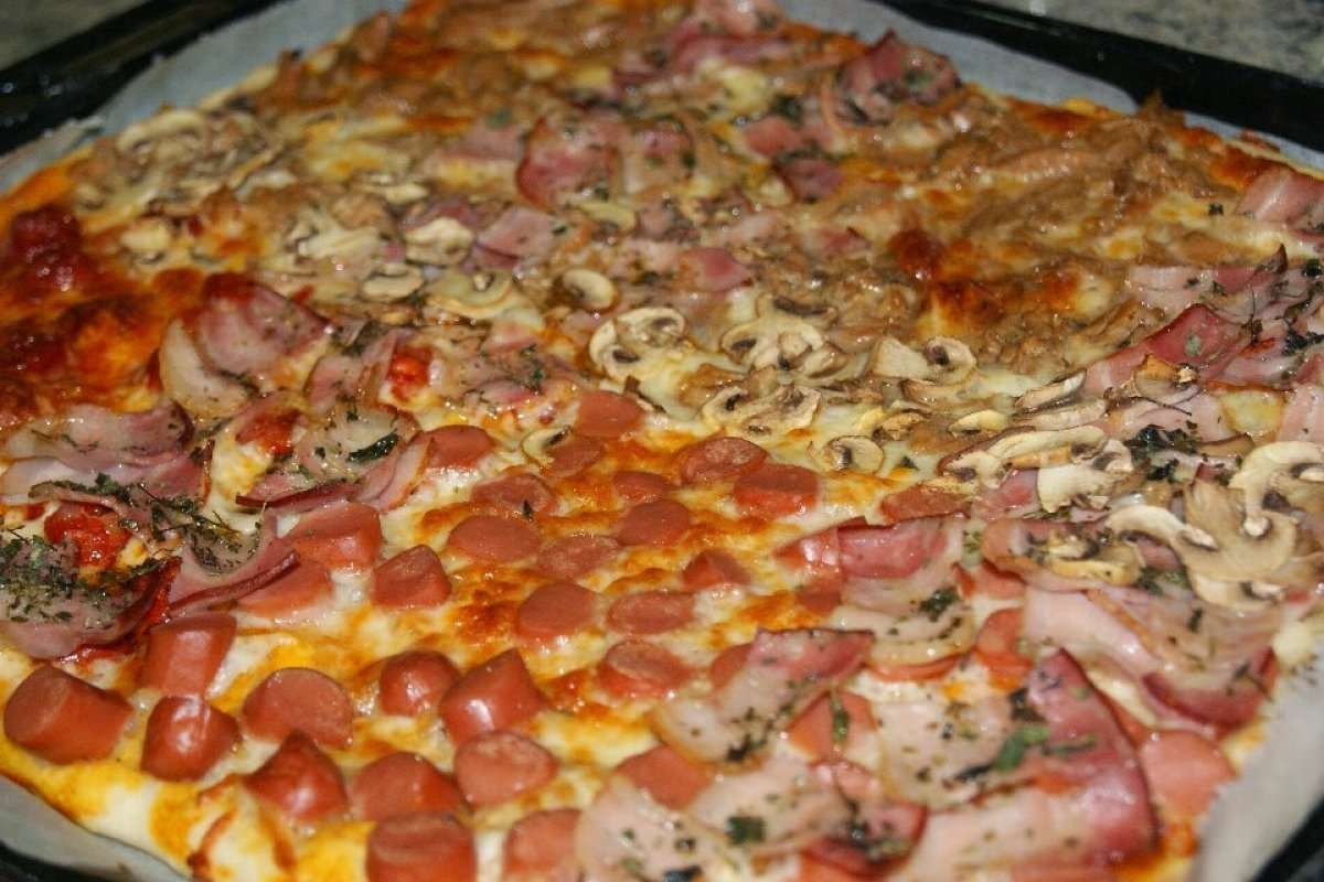 Pizza casera familiar