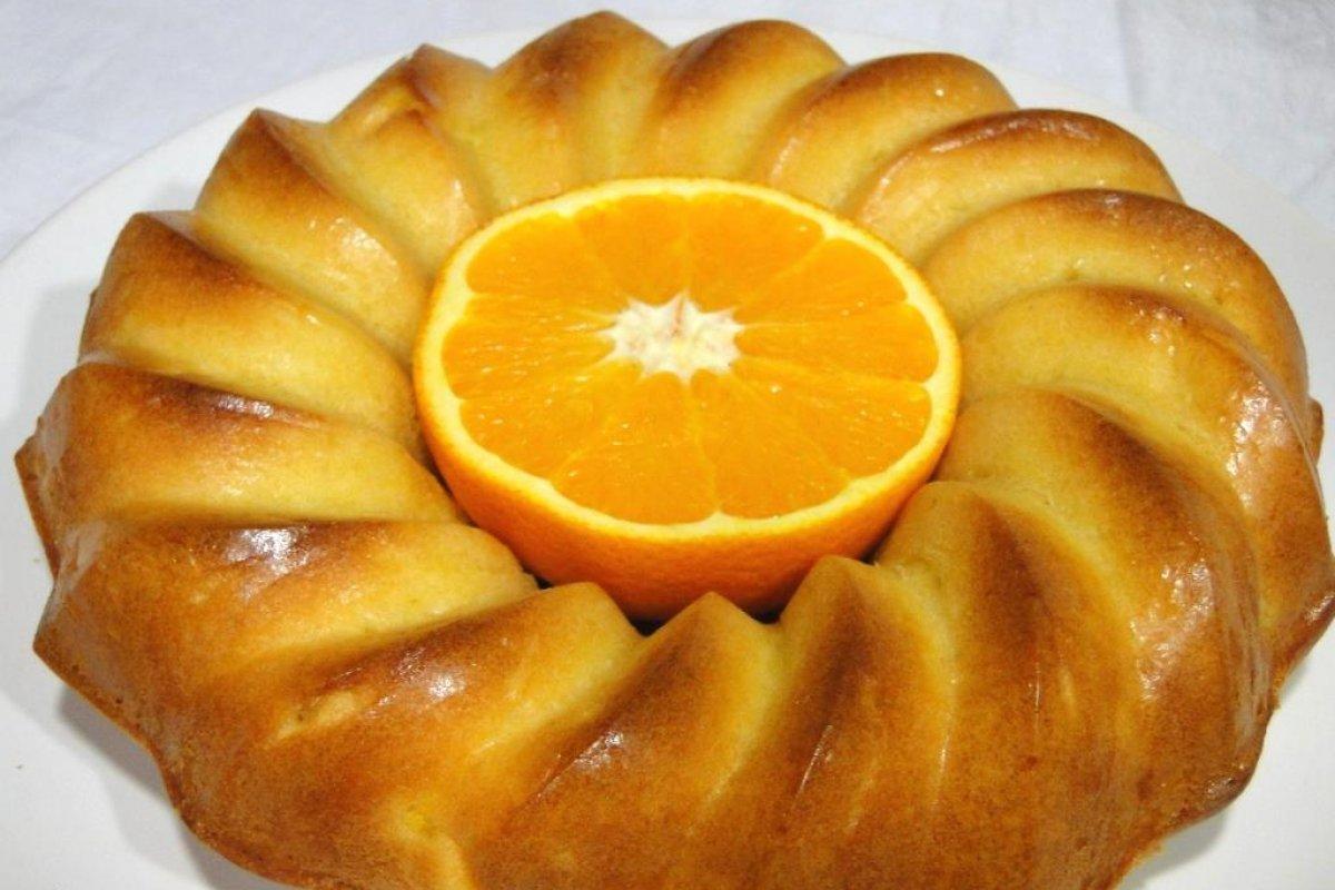 Bizcocho de naranja sin azúcar