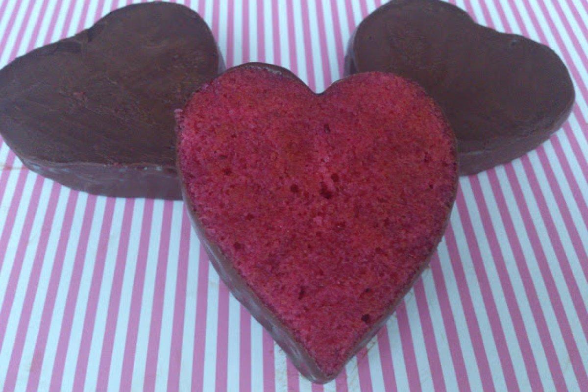 Corazones de frambuesa y chocolate