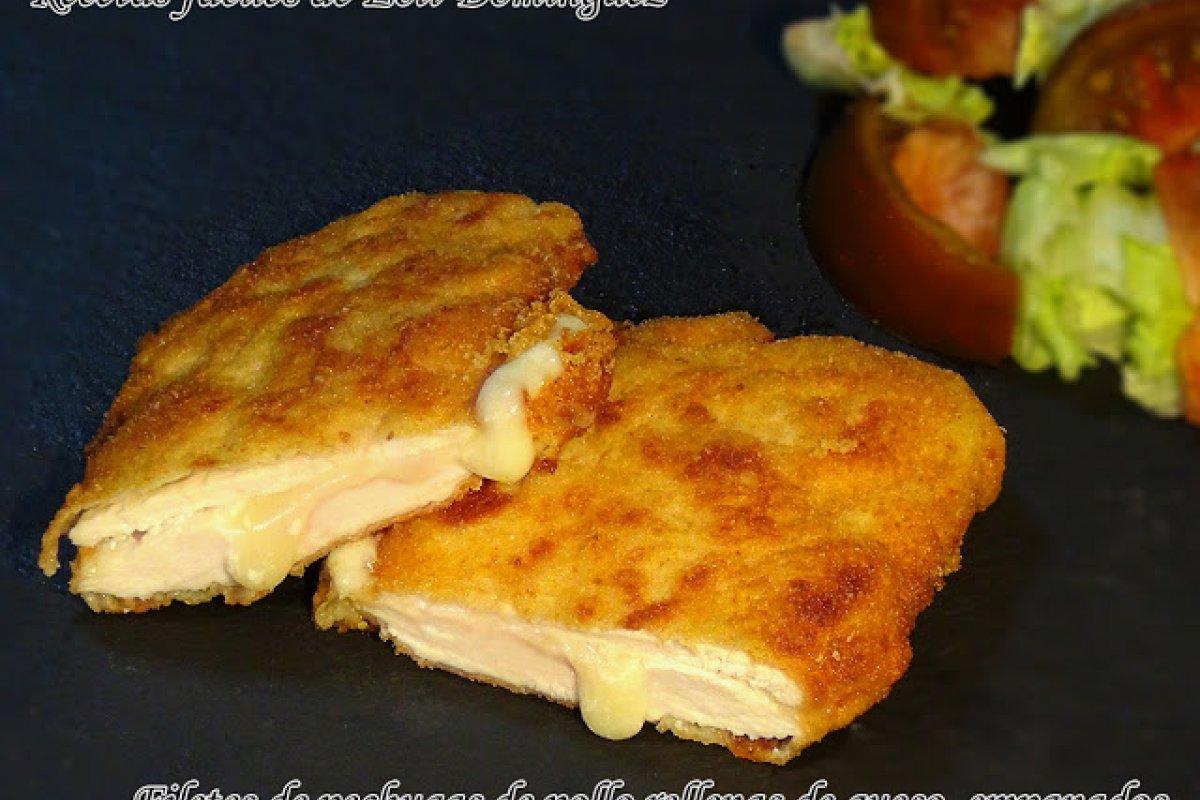 Filetes de pechuga de pollo rellenos de queso