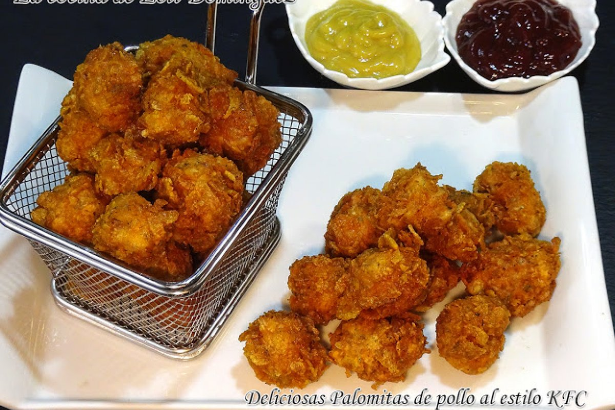 Palomitas de pollo al estilo KFC