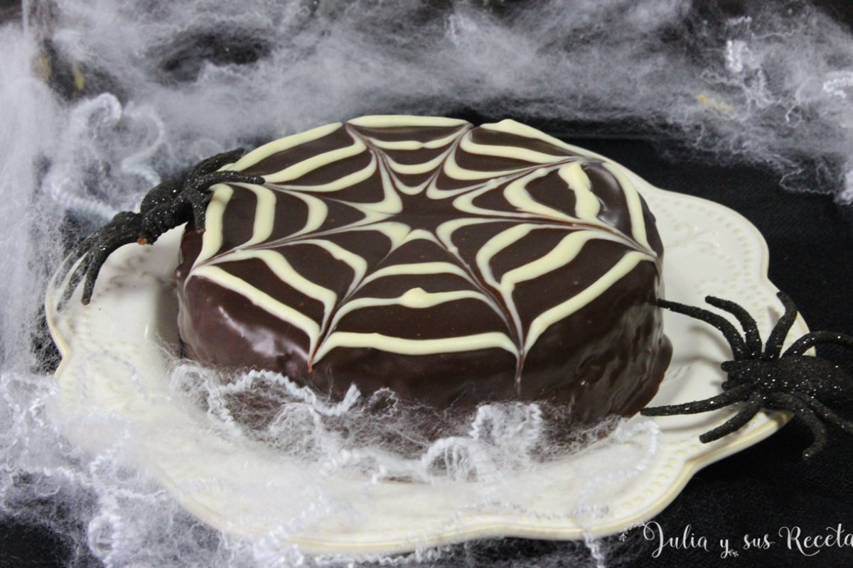 Tarta de calabaza y chocolate. sin gluten
